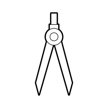 図面学校コンパス ツール研究デザイナー ベクトル図