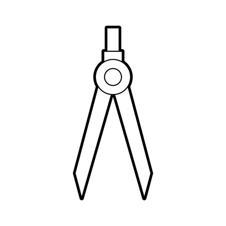 drawing school compass tool study designer vector illustration