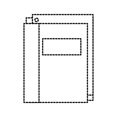 school map met papier briefpapier levering onderwijs vectorillustratie