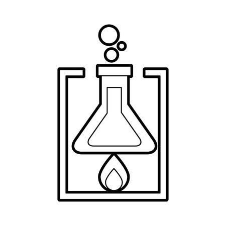 Una ilustración de vector de experimento de combustión de llama de tubo de prueba de laboratorio de escuela Foto de archivo - 87002813