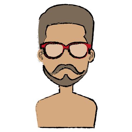 young man shirtless avatar character vector illustration design Stock Vector - 87002831