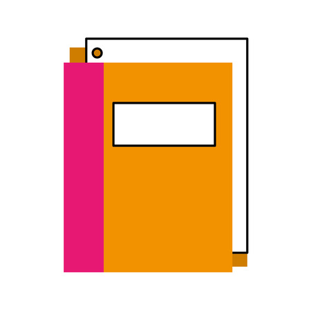 school folder with paper stationery supply education vector illustration Ilustrace