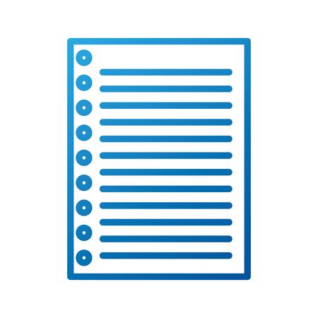 ライニング紙ノートページ空白の学校ベクトルイラスト