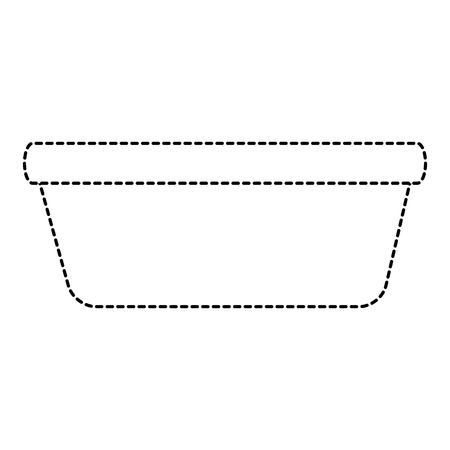 plastic laundry container icon vector illustration design