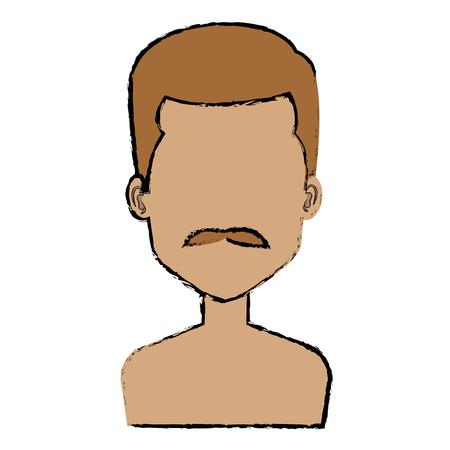 young man shirtless avatar character vector illustration design Stock Vector - 87002903