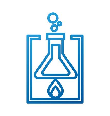 Ilustración de vector de experimento de combustión de tubo de prueba de laboratorio de la escuela Foto de archivo - 87002921
