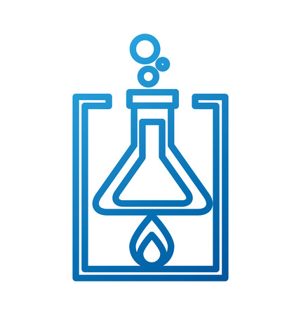school laboratory test tube flame burning experiment vector illustration
