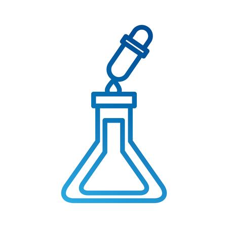 school test tube and dropper liquid science vector illustration Çizim