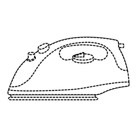 平らな鉄アプライアンス分離アイコン ベクトル図