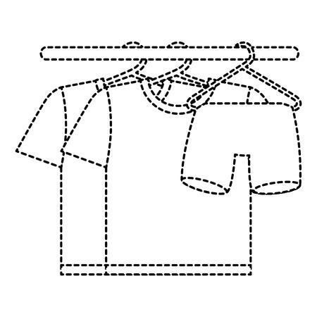 Schone wasserij hangende pictogram vectorillustratie Stock Illustratie