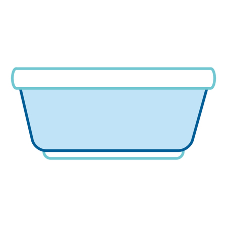 Plastic basin icon isolated vector illustration