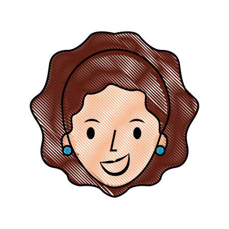 vrouwelijk gezicht cartoon vrouw profiel mensen vector illustratie