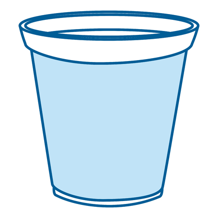 plastic laundry container icon vector illustration design