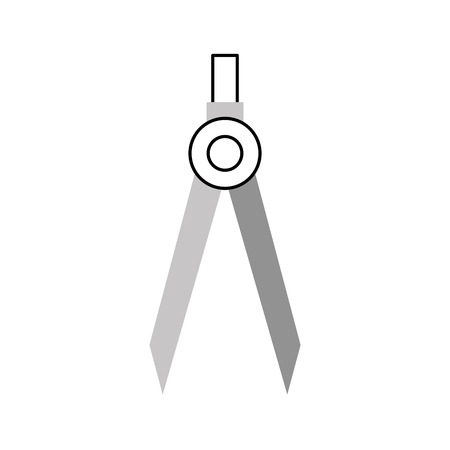 Compass tool icon isolated vector illustration Çizim