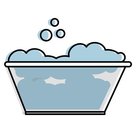 泡のベクトルのイラストの設計が付いているプラスチック洗濯の容器  イラスト・ベクター素材