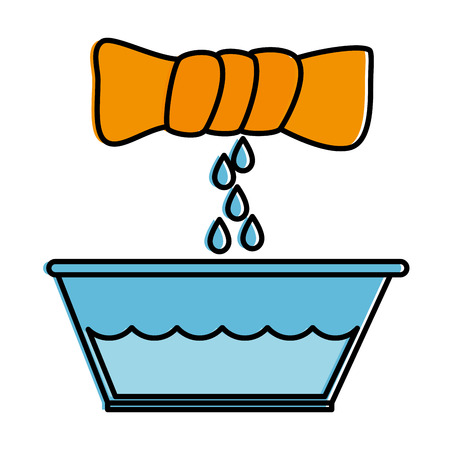 squeeze the clothes icon vector illustration design 向量圖像