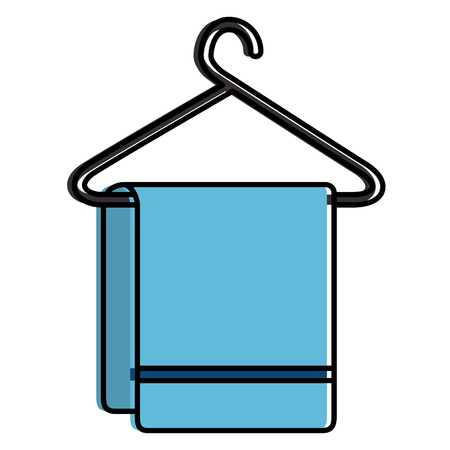 Clean laundry hanging icon vector illustration design 向量圖像