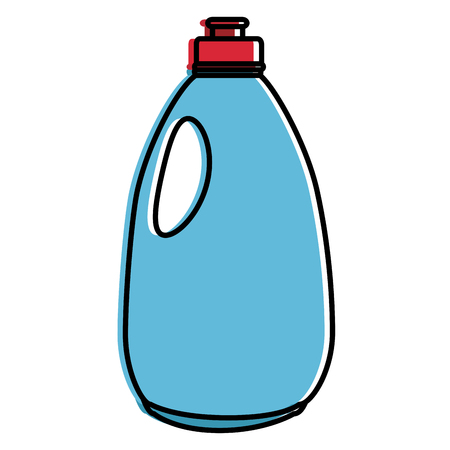 Limpiador botella de productos de lavandería ilustración vectorial diseño Foto de archivo - 87003051