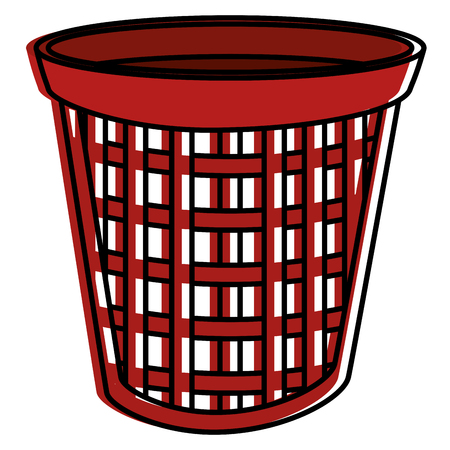 laundry basket isolated icon vector illustration design 向量圖像