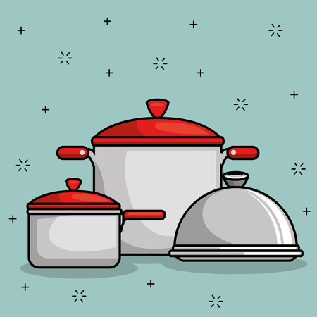 restaurant pot icon vector illustration graphic design