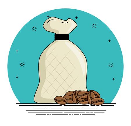 コーヒー豆漫画ベクトルイラストグラフィックデザイン