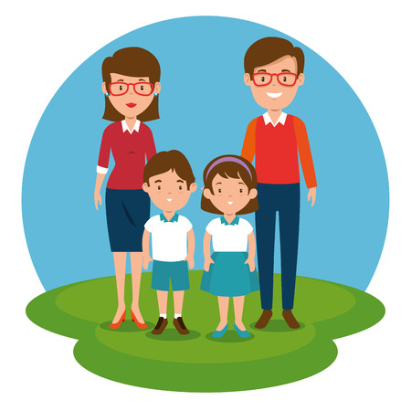 teacher with students vector illustration graphic design