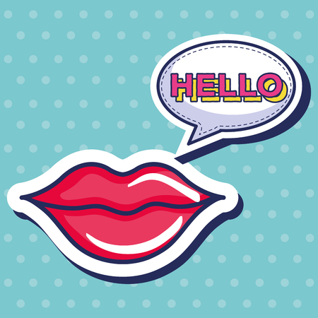 woman lips icon vector illustration design