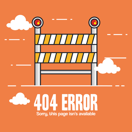 404 connection error icons vector illustration design Stok Fotoğraf - 87003216