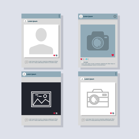 Mobile phones set isolated icons Çizim
