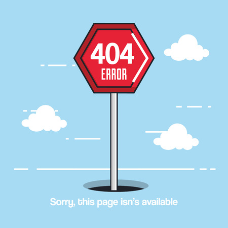 404 connection error icons vector illustration design