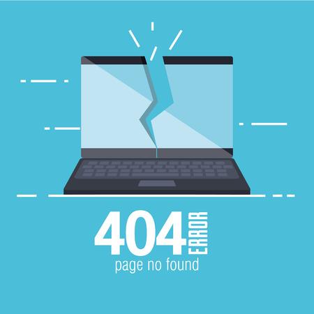 404 erreur de connexion icônes Banque d'images - 87003232