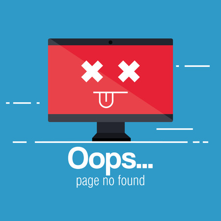 Oops page no found concept Çizim