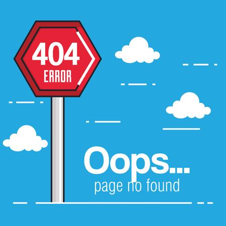 Oeps pagina geen gevonden concept Stock Illustratie