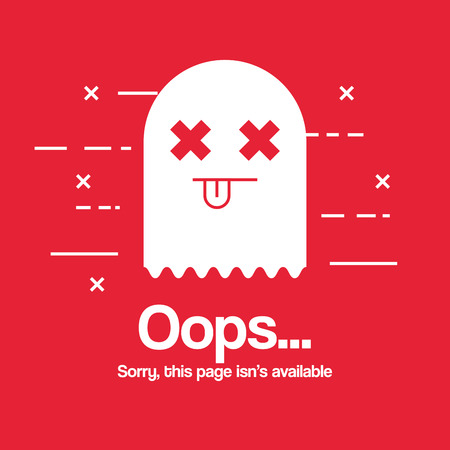 oops page no found concept vector illustration design