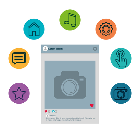 smartphone with menu settings vector illustration design Stock fotó