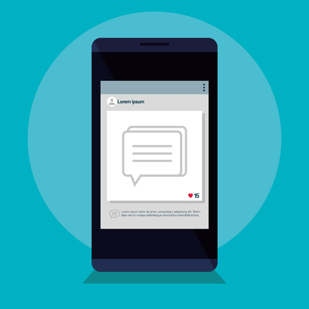 smartphone with template icon vector illustration design