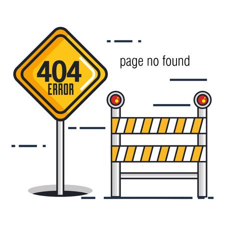 404 errore di errore icone illustrazione vettoriale illustrazione Archivio Fotografico - 87003255