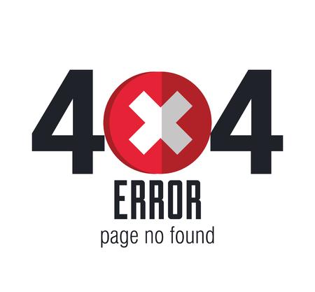 404 연결 오류 아이콘 벡터 일러스트 레이션 디자인