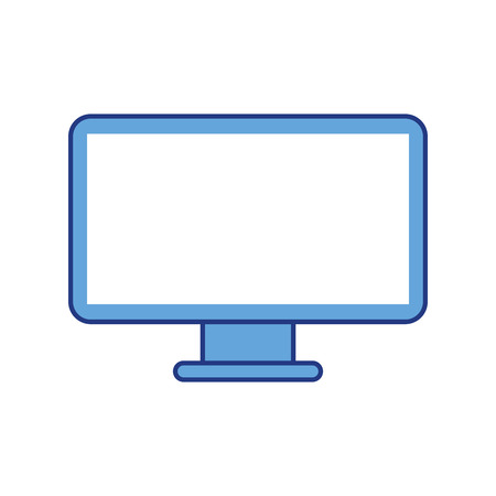 monitor screen pc technology device vector illustration