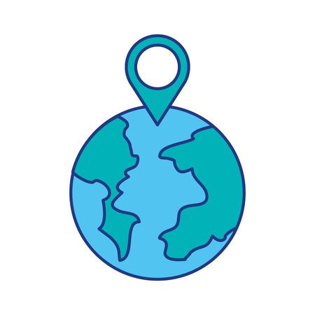 Puntatore mappa puntatore del mondo mappa web illustrazione vettoriale Archivio Fotografico - 87257553
