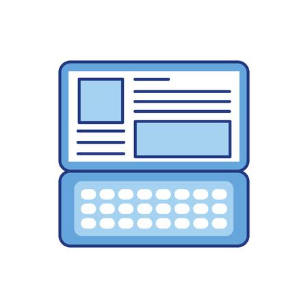 ノート パソコン キーボードの web サイト アプリケーション接続ベクトル図