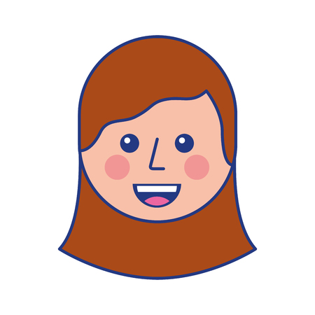 cartoon young teenager happy girl smiling vector illustration 向量圖像