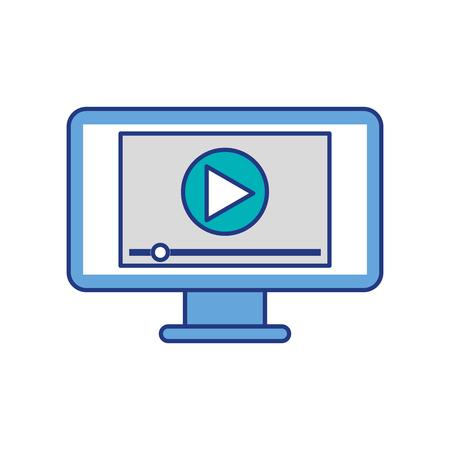 Bildschirm-Videoplayer für Web und Internet Medien Vektor-Illustration Standard-Bild - 87064771