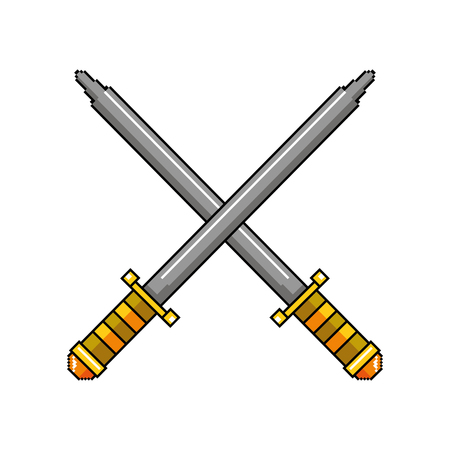 swords game weapons icon vector illustration design Ilustrace