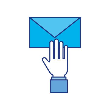 メール エンベロープ メッセージ手紙 web シンボル ベクトル イラスト手します。  イラスト・ベクター素材
