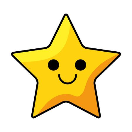 ピクセル化された星のかわいいアイコン ベクトル イラスト デザイン  イラスト・ベクター素材