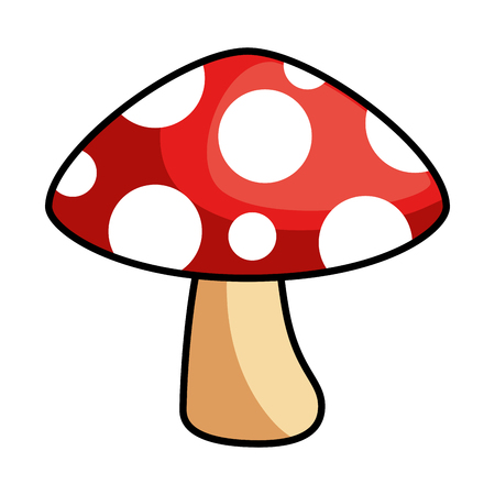 pixelated game mushroom icon vector illustration design Ilustração