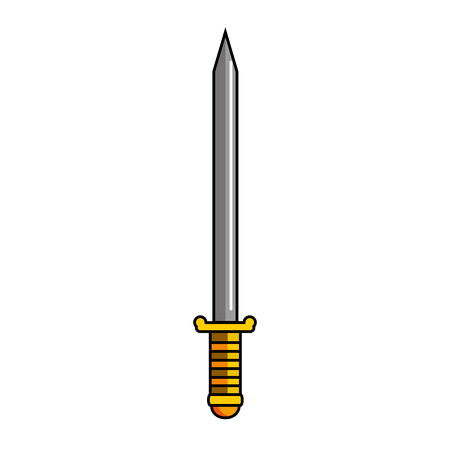 sword game weapon icon vector illustration design