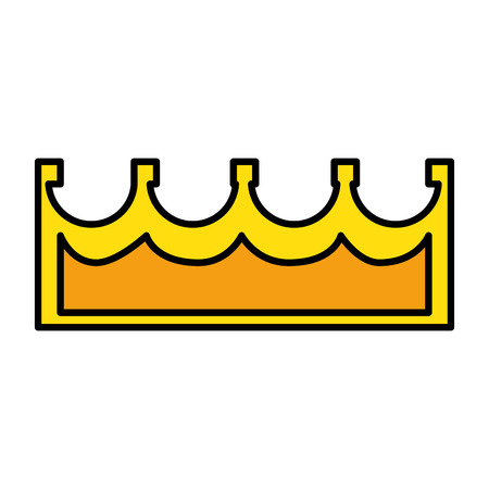pixelated queen crown icon vector illustration design