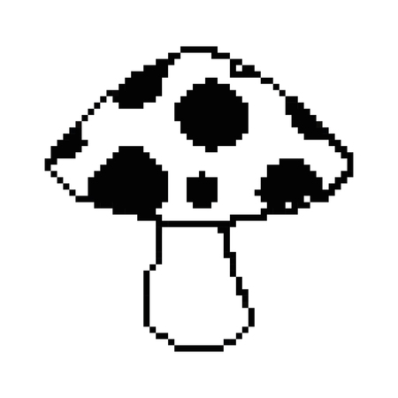 pixelated game mushroom icon vector illustration design Çizim
